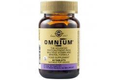 Solgar Omnium Πολυβιταμίνη για Ενέργεια, Τόνωση & Αντιοξειδωτική Προστασία - Ιδανική για Καταπολέμηση της Πνευματικής & Σωματικής Κόπωσης, 60tabs