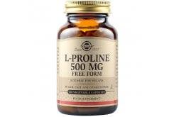 Solgar L-Proline 500mg Συμπλήρωμα Διατροφής L-προλίνης για Προστασία  & Υγεία του Δέρματος, Τενόντων, Συνδέσμων & Αρθρώσεων - Ιδανικό για Άτομα με Έντονη Σωματική Δραστηριότητα, 100veg.caps
