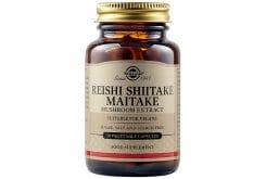 Solgar Reishi Shiitake Maitake Mushroom Extract Συμπλήρωμα Διατροφής για Τόνωση του Οργανισμού & Ενίσχυση του Ανοσοποιητικού, 50veg.caps