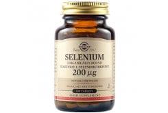 Solgar Selenium 200μg Συμπλήρωμα Διατροφής Σελήνιο Ιδανικό για Τόνωση Ανοσοποιητικού & Υπολειτουργία Θυροειδούς - ΥγείαΜαλλιών & Νυχιών, 100tabs