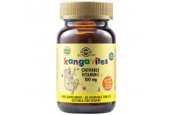 Solgar KangavitesChewableVitaminC100mg Συμπλήρωμα Διατροφής Βιταμίνης C για Παιδιά 3 ετών και άνω - Γεύση Πορτοκάλι, 90chew.tabs