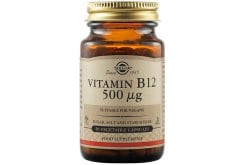 Solgar Vitamin B12 500 μg Συμπλήρωμα Διατροφής Βιταμίνη B12 για την Ομαλή Λειτουργία του Νευρικού Συστήματος, 50veg.caps