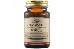 Solgar Vitamin B12 1000 μg Μασώμενα Δισκία Βιταμίνη B12 για την Ομαλή Λειτουργία του Νευρικού Συστήματος, 100nuggets