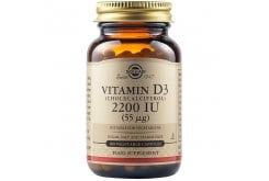Solgar Vitamin D3 2200IU (55μg) Συμπλήρωμα Διατροφής Βιταμίνης D3 για την Ομαλή Λειτουργία του Οργανισμού & του Ανοσοποιητικού, Ιδανική για την Υγεία των Αρθρώσεων,100caps