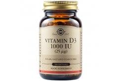 Solgar Vitamin D3 1000 IU (25μg) Συμπλήρωμα Διατροφής Βιταμίνης D3 με Πολλαπλά Οφέλη για τον Οργανισμό, Ιδανικό για την Υγεία των Οστών & των Αρθρώσεων,100softgels