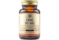 Solgar Zinc Gluconate 50mg Συμπλήρωμα Διατροφής Ψευδαργύρου για Τόνωση του Ανοσοποιητικού & της Αναπαραγωγικής Υγείας, 100tabs