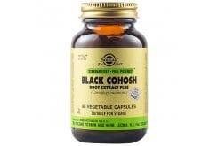 Solgar Black Cohosh Root Extract Plus Συμπλήρωμα Διατροφής Χρήσιμο στα Συμπτώματα της Εμμηνόπαυσης - Βοηθάει στην Παραγωγή της Εμμηνορρυσίας, 60veg.caps