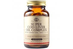 Solgar Super Cod Liver Oil Complex Συμπλήρωμα Διατροφής Μουρουνέλαιο με Βιταμίνες Α & D - Συμβάλλει στην Καλή Υγεία Εγκεφάλου, Δέρματος, Μαλλιών, Όρασης, Οστών, Μυών, Δοντιών, Καρδιαγγειακού & Ανοσοποιητικού Συστήματος, 60Softgels