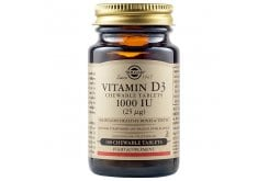 Solgar Vitamin D3 1000 IU (25μg) Συμπλήρωμα Διατροφής ΜασώμενηςΒιταμίνης D3 με Γεύση Μπανάνα - Φράουλα με Πολλαπλά Οφέλη για τον Οργανισμό, Ιδανικό για την Υγεία των Οστών & των Αρθρώσεων, 100chew.tabs
