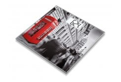 Beurer GS 203 London Γυάλινη Απλή Ψηφιακή Ζυγαριά με Παράσταση από το Λονδίνο, 1 τεμάχιο