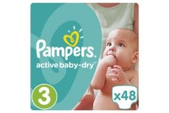 Pampers Active Baby Dry Value Pack No.3 (Midi) 5-9 kg Nappies, 48 pcs