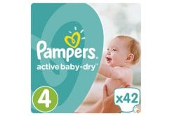 Pampers Active Baby Dry Value Pack No.4 (Maxi) 8-14 kg Βρεφικές Πάνες, 42 τεμάχια
