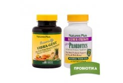 Πακέτο Προσφοράς Nature's Plus με Source of Life Vibra Gest, 90 vcaps & Ultra Probiotics, 30 vcaps