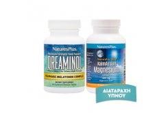 Πακέτο Προσφοράς Nature's Plus κατά της Αϋπνίας με Dreaminol Bi-Layer, 30 tabs & KalmAssure Magnesium 400mg, 90 Vcaps