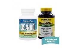 Πακέτο Προσφοράς Nature's Plus με Dreaminol Bi-Layer, 30tabs & Magnesium 250mg, 90 tabs