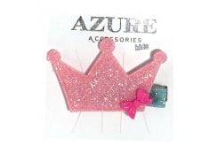 Azure Παιδικό Αξεσουάρ για Μαλλιά Ράμφος Κορώνα, 1 τεμάχιο (RA-0068) - Φούξια