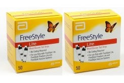 2x Abbott FreeStyle Lite, 100 ( 2x 50) ταινίες