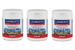 3x Lamberts Vitamin E 400 iu Natural form, 3x 60 caps