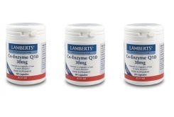 3x LAMBERTS CO-ENZYME Q10 30MG, Συνένζυμο Q10 , 3x 60 caps