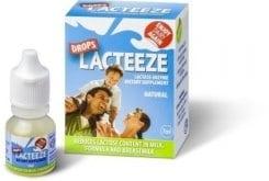 Lacteeze Ένζυμο Λακτάσης σε Σταγόνες με ευχάριστη γεύση Φράουλας, 7ml