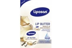 Liposan Lip Butter Vanilla & Macadamia Ενυδατικό Butter Χειλιών με άρωμα Βανίλιας, 19ml