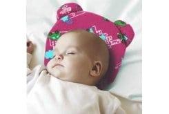 Anatomic Help Baby Pillow Plagiocephaly 3D 0908 Μαξιλάρι Πλαγιοκεφαλής, χρώμα ροζ, 1 τεμάχιο