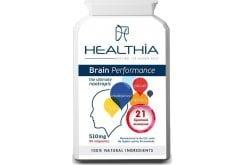 Healthia Brain Performance Συμπλήρωμα Διατροφής για την Καλή λειτουργία & υγεία του Εγκεφάλου, 90caps