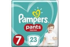 Pampers Pants No.7 (17+kg) Βρεφικές Πάνες Βρακάκι, 23 τεμάχια