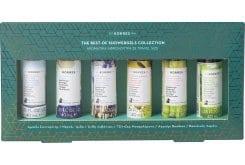 Korres Set 6 Αφρόλουτρα σε Travel Size Αμπέλι Σαντορίνης, Νέρολι Ίριδα, Άνθη Λεβάντας, Τζίντζερ Μοσχολέμονο, Αγγούρι Bamboo, Βασιλικός Λεμόνι, 6x40ml