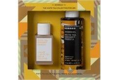 Korres PROMO White Tea / Bergamot / Freesia for Women with Perfume, 50ml & Shower Gel, 250ml