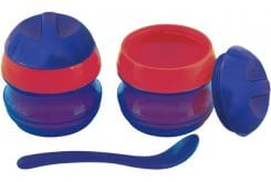 Primamma Μπωλ-Θερμός & Κουταλάκι 7m+, 1 θερμός & 1 κουταλάκι - Μπλε