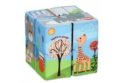 Sophie la Girafe Magic Cube 230791 Μαγικοί Κύβοι για να δημιουργήσει 9 διαφορετικά παζλ, 8 τεμάχια