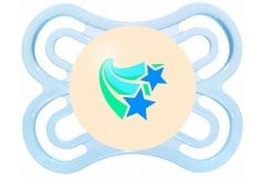 Mam Perfect Night Πιπίλα Νύχτας 0-6 μηνών με Θηλή-Μετάξι Σιλικόνης (135S), 1 τεμάχιο - Γαλάζιο