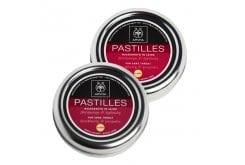 2x Apivita Pastilles Παστίλιες με Βατόμουρο & Πρόπολη για τον Πονόλαιμο με Βιταμίνη C & Αντιοξειδωτική Δράση, 2x45gr