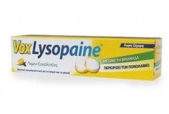 Boehringer Ingelheim Vox Lysopaine Παστίλιες για τον Πονόλαιμο & τον Ερεθισμό του Στοματικού & Φαρυγγικού Βλεννογόνου, με Γεύση Λεμόνι-Ευκάλυπτος, 18 loz