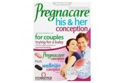 Vitabiotics Pregnacare His & Her Μοναδική Διπλή Φόρμουλα για την Ενίσχυση του Αναπαραγωγικού Συστήματος του Άνδρα & της Γυναίκας, 2 x 30 tabs