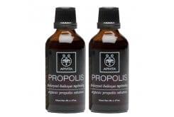 2x Apivita Propolis Βιολογικό Διάλυμα Πρόπολης για Ενίσχυση της Φυσικής Άμυνας με Αντισηπτικές, Αντιμικροβιακές & Αντιβιοτικές Ιδιότητες, 2x50ml