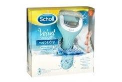 Scholl Velvet Smooth Wet & Dry Επαναφορτιζόμενη Αδιάβροχη Ηλεκτρική Λίμα Ποδιών, 1 τεμάχιο
