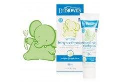 Dr. Brown's Natural Baby Toothpaste HG 025 Βρεφική Οδοντόκρεμα χωρίς Φθόριο με Γεύση Αχλάδι & Μήλο, 40gr