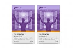 2 x Agan Eusensia No Depress Supplement Against Sadness & Negative Feelings, 2 x 30 veg.caps