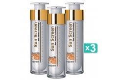 3 x Frezyderm Sun Screen Velvet Face Cream SPF50+ Αντηλιακή Κρέμα Προσώπου με Άριστη Εφαρμογή μ' ένα Άγγιγμα, 3 x 50ml
