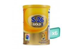 6 x Wyeth S26 I Gold Infant's Pack from Birth to 6 Months, 6 x 400 gr