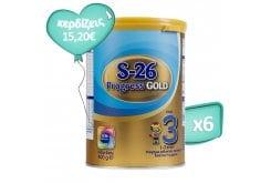Πακέτο Προσφοράς 6 x Wyeth S26 Progress 3 Gold Βρεφικό Γάλα από τον 12ο μήνα, 6 x 400 gr