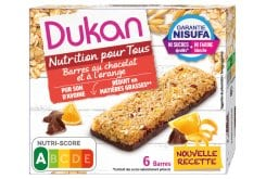 Dukan Expert Oat Bran Bars with Chocolate & Orange, 6 pcs