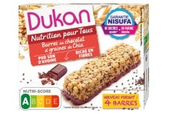 Dukan Expert Chocolate Oat Bran Bars with Chia Seeds, 111gr