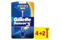Gillette Sensor 3 Ξυραφάκια μιας Χρήσης, 4 τεμάχια + 2 ΔΩΡΟ