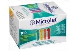 Ascensia Microlet Σκαρφιστήρες Έγχρωμοι για το Σύστημα Παρακολούθησης Γλυκόζης Αίματος CONTOUR® της Bayer, 100 x Lancets Colored