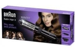 Braun Βούρτσα Φορμαρίσματος Satin Hair 3 AS 330, 1 συσκευή & 2 εξαρτήματα