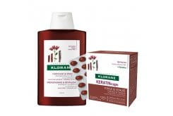 Klorane Πακέτο κατά της Τριχόπτωσης με Quinine Fortifying Treatment Shampoo Δυναμωτικό Σαμπουάν με Eκχύλισμα Κινίνης, 400ml & Keratin Caps Συμπλήρωμα Διατροφής για Δυνατά Μαλλιά με Κερατίνη, 30caps