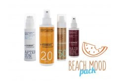 Korres Beach Mood Pack with Red Grape Sunscreen Face Cream SPF50, 50ml, Yoghurt Sunscreen Face & Body Emulsion SPF20, 150ml, Red Vine Hair Sun Protection, 150ml & Cooling Yoghurt After Sun Face & Body Cream-Gel, 150ml